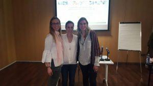 Helena Villar, Maria Rufino i Marta Argilés, professionals dels EAPS