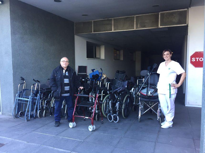 Donació de material ortopèdic del Centre Mutuam Collserola