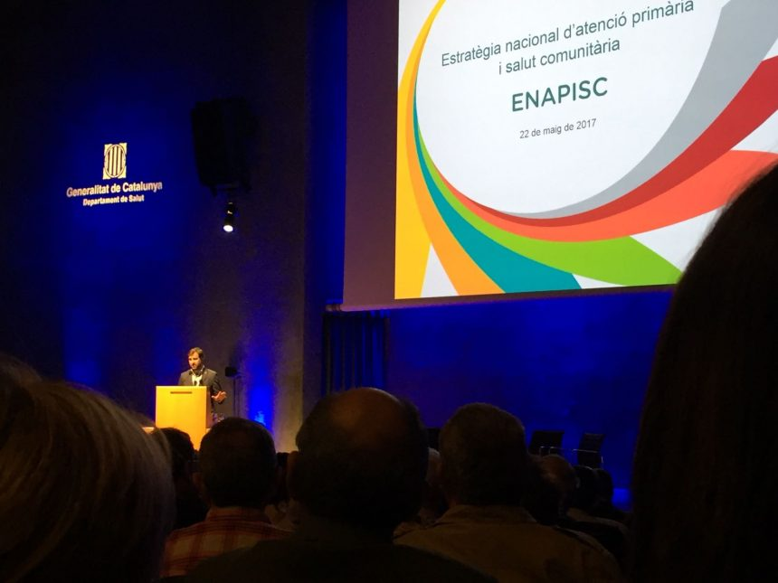 Antoni Comín presentant l'ENAPISC