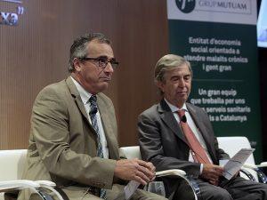 Francesc Brosa, director de Mutuam, i Miquel Vilardell, president de la Fundació