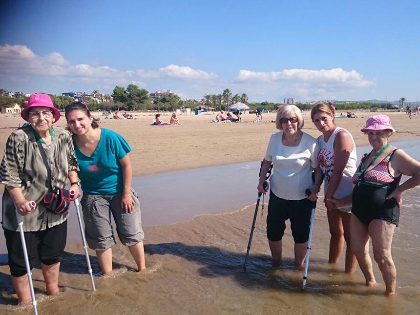 Residents de Mutuam Manresa a la platja