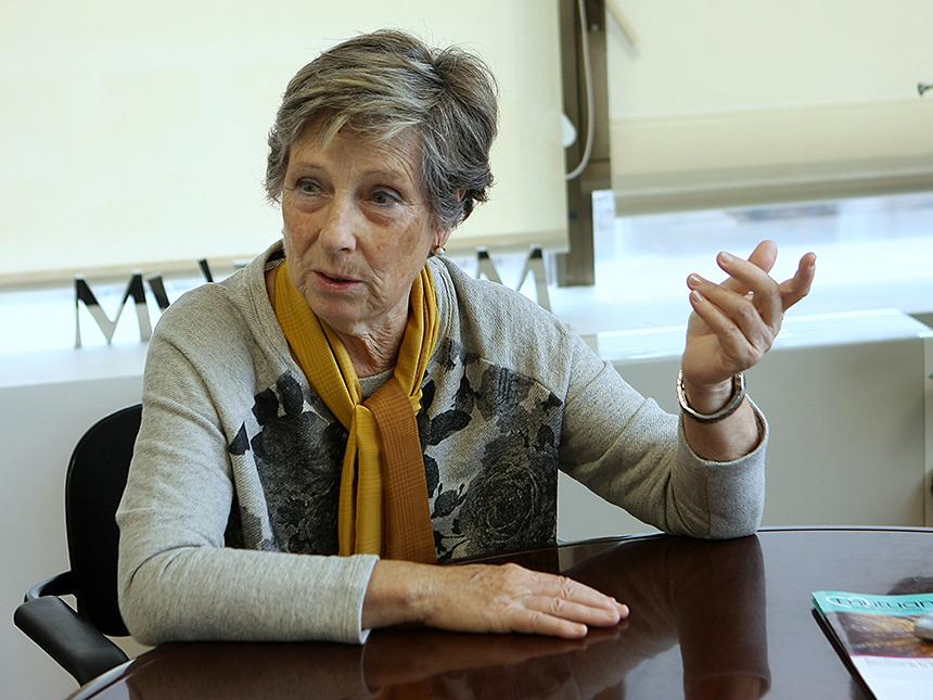 Marta Pons, usuària del Servei d'Ajuda a Domicili
