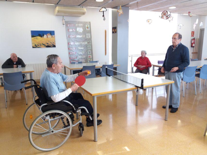 ping-pong centre de dia Creu de Barberà