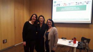 Sílvia de Quadras, Mercè Navarro i Eva Rodríguez, professionals dels EAPS