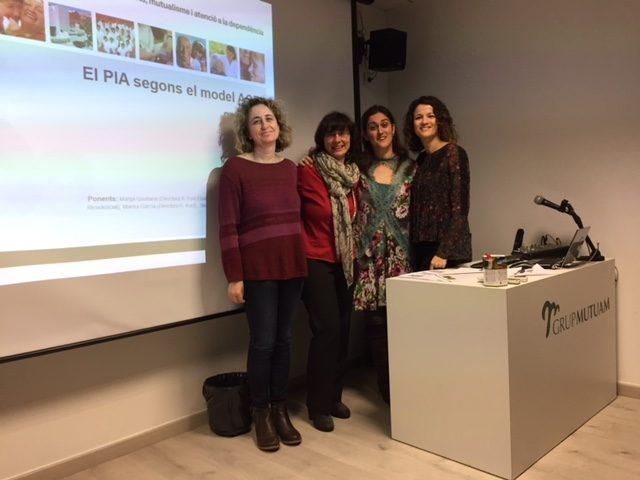 Professionals de Mutuam en la sessió clínica sobre el PIAI