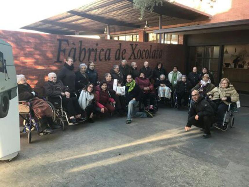 Visita a Simón Coll dels Centre de Dia de Mutuam