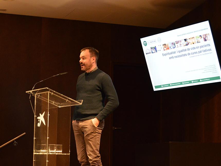 Cristian Carrasquer a la Jornada de Recerca