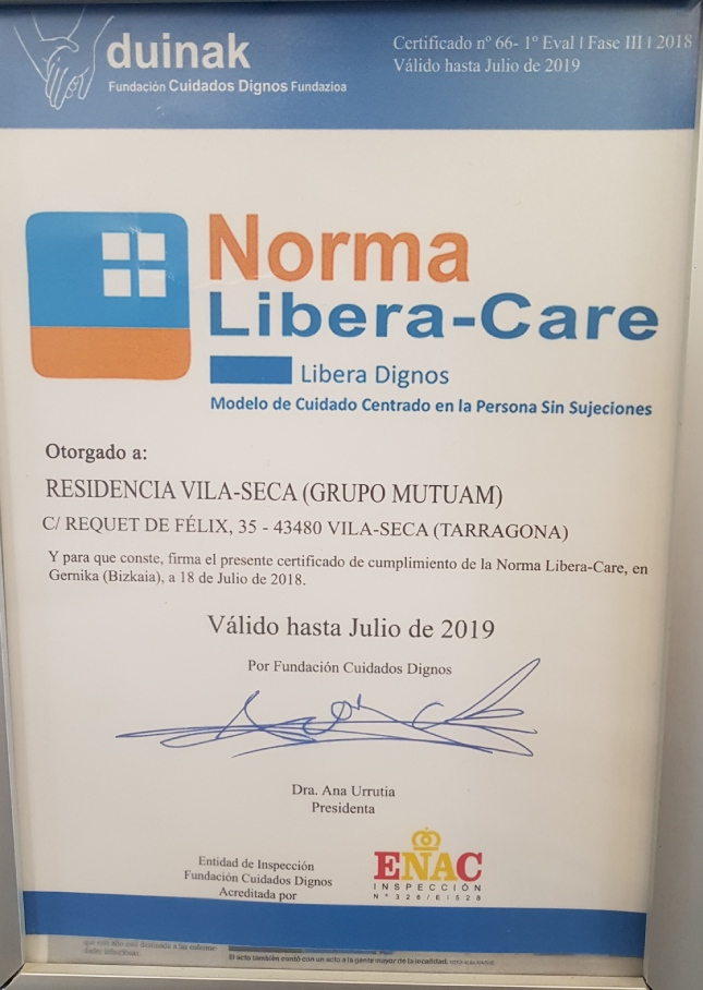 Certificació Libera-Care