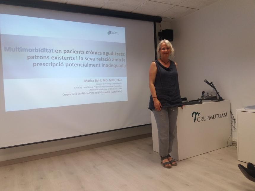 Marisa Baré a sessió clínica